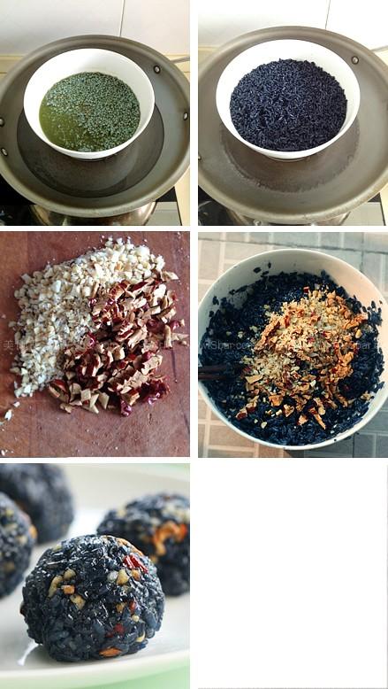 咸肉乌米饭、白糖花朵乌米饭、果仁乌米饭