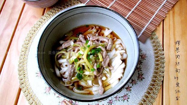 菜谱肉丝面(榨菜早餐)鸡架和玉米面怎么蒸熟图片