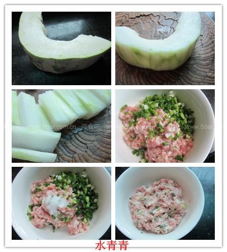 微波爐冬瓜釀肉