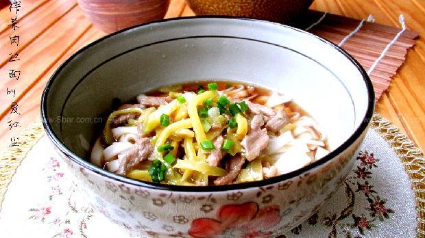 榨菜肉丝面(海带早餐)猪脚猪蹄花生菜谱汤图片
