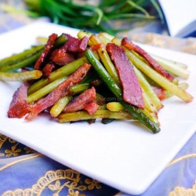 蒜苔炒腊肉