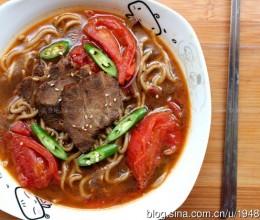 红烧番茄牛肉荞麦面