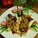 肉菇酿春笋(清蒸菜)