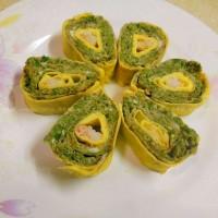 香椿蛋虾卷