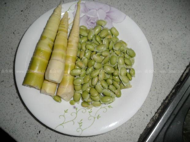 毛豆子炒笋