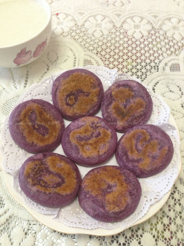紫薯花生饼