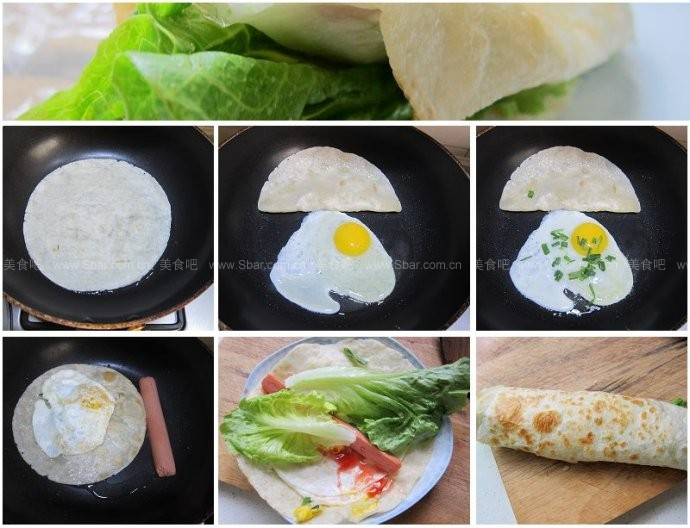 鸡蛋香肠手抓饼