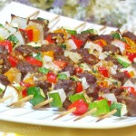 牛肉西葫芦串串香(烤箱菜)