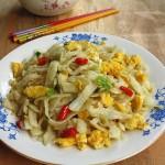 鸡蛋土豆拨烂子(山西家常面食)