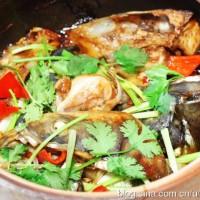 粵式生啫沙鍋魚頭