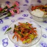魷魚干炒蒜苔