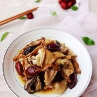 红枣冬菇蒸鸡