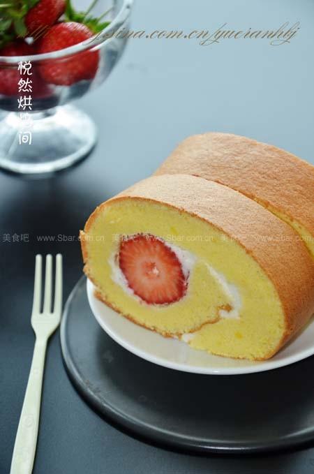 草苺蛋糕卷