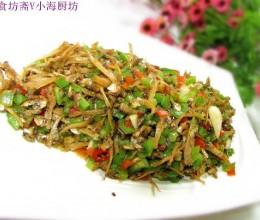 丁香鱼炒尖椒