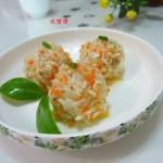 萝卜珍珠丸子(清蒸菜)