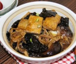 红烧豆腐菌菇煲