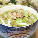 咸肉火腿白菜汤