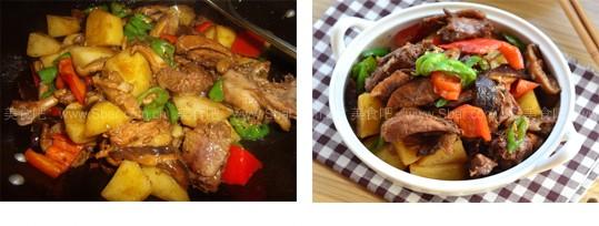 蘑菇土豆炖小鸡