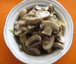清炒白蘑菇