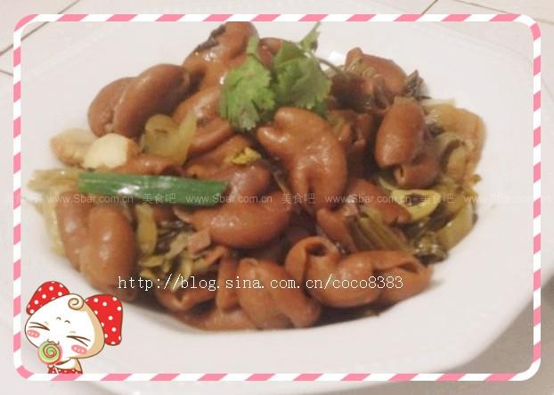 酸菜炒猪大肠