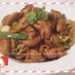 酸菜炒猪大肠(美味开胃下饭菜)