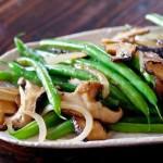 刀豆炒双菇