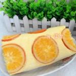 香橙戚风卷(甜品点心)