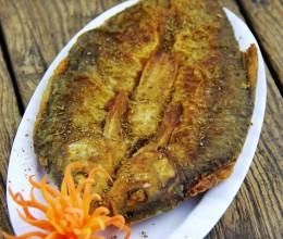 油煎华子鱼