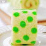 绿色花边波点蛋糕卷(甜品点心)