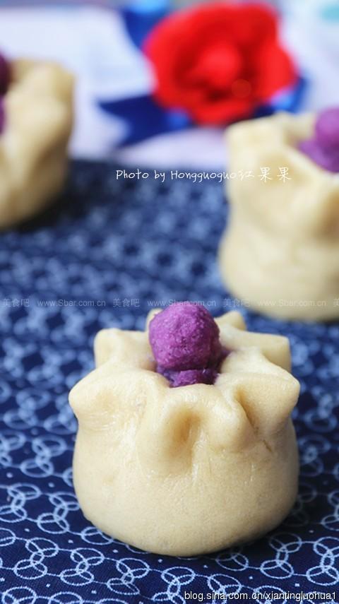 全麦紫薯石榴包
