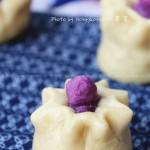 全麦紫薯石榴包(早餐菜谱)
