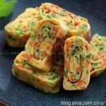 韩式蔬菜鸡蛋卷(早餐菜谱)
