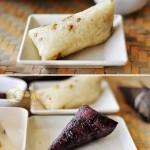 绿豆腊排骨肉粽(怎么学包粽子)