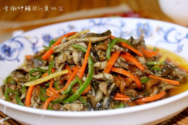 青椒炒膳丝