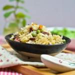 豌豆腊肠焖饭(电饭锅食谱)