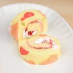 彩绘爱心蛋糕卷(甜品点心)