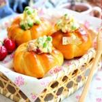 培根沙拉花朵面包(早餐菜谱)
