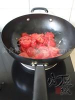 茄汁蒜苗烧豆腐