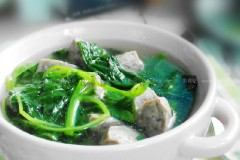 苋菜牛肉丸汤