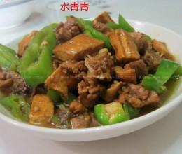 青椒卤豆腐干炒鸭