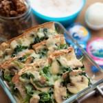 菠菜蘑菇焗面包(早餐菜谱)