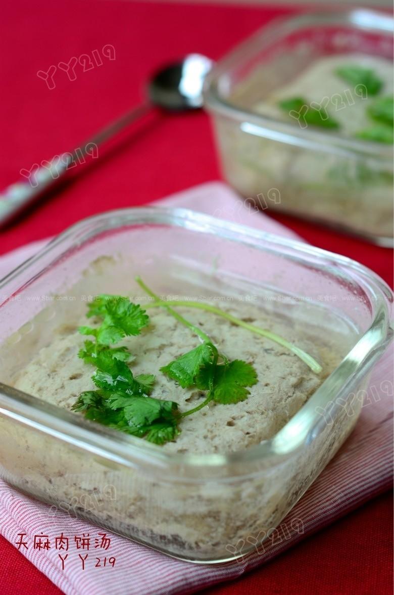 天麻肉饼汤