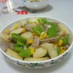 白薯玉米炒肉