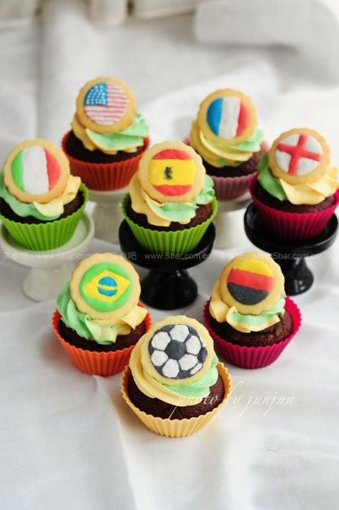 世界杯小蛋糕