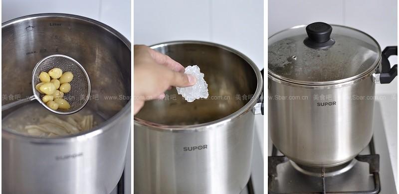 鹌鹑蛋白果糖水