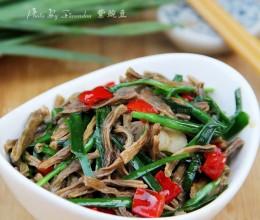 韭菜炒干豆角