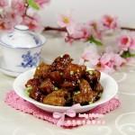 五花肉烧粽子