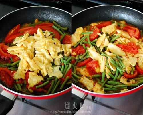 番茄炒豇豆