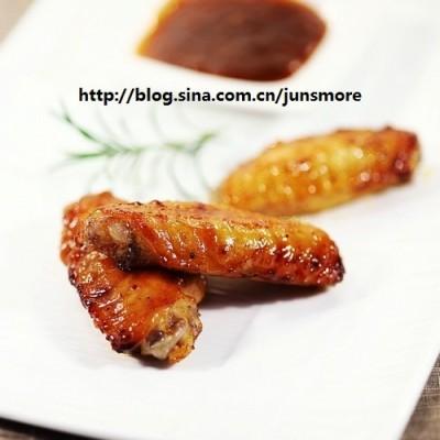 秘制酱汁烤鸡翅