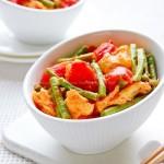 番茄炒豇豆(夏季开胃下饭菜)